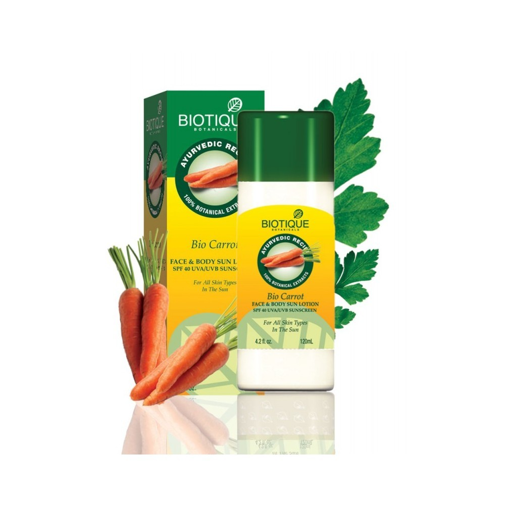 Biotique Bio Carrot Face and Body Sun Lotion