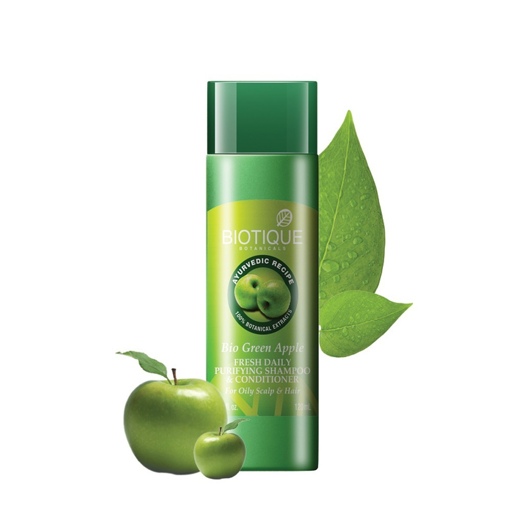 Biotique Green Apple Fresh Daily Purifying Shampoo and Conditioner