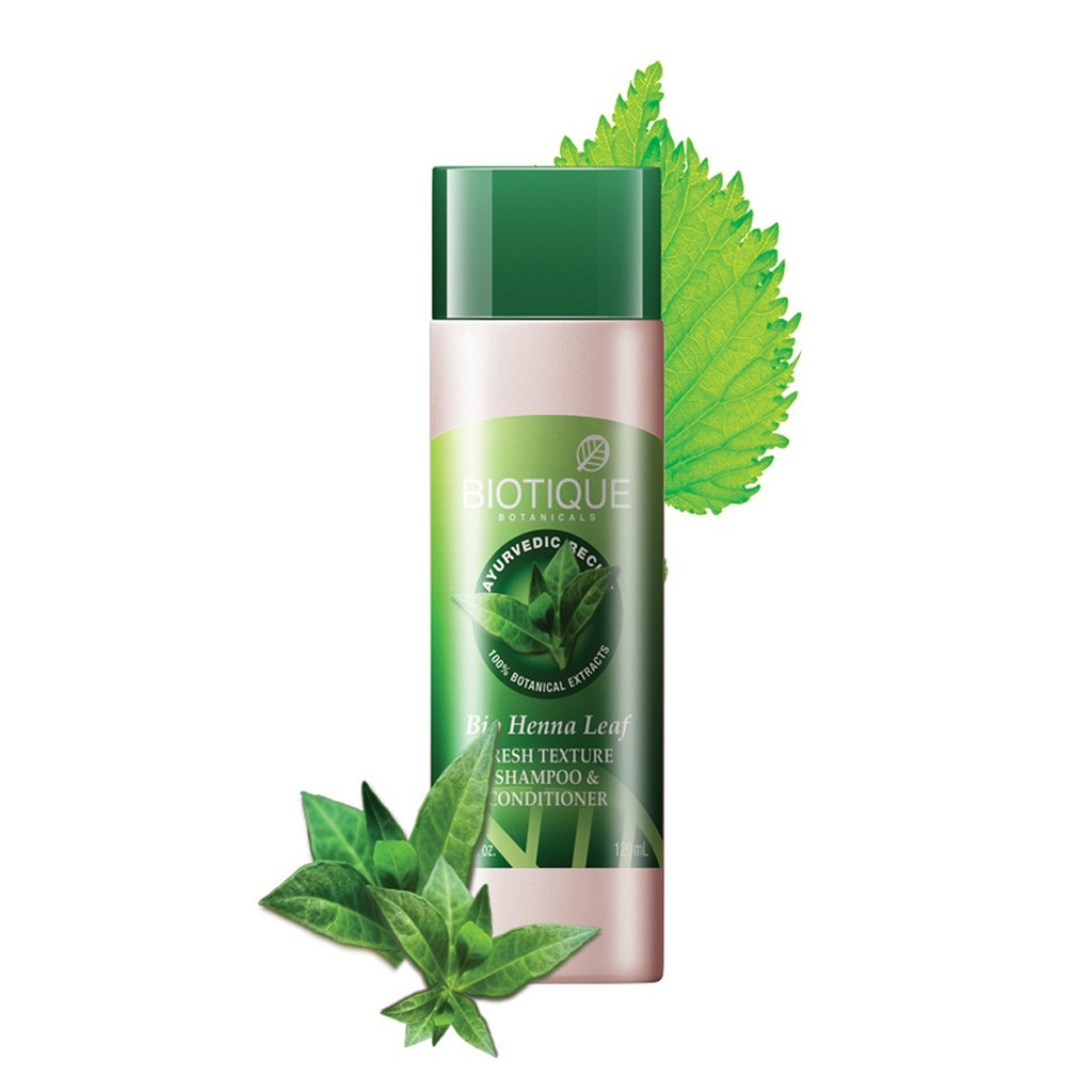 Biotique Henna Leaf Fresh Texture Shampoo and Conditioner with Color