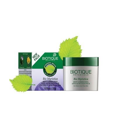 Biotique Myristica Spot Correcting Anti Acne Face Pack