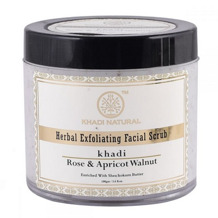 Khadi Apricot And Walnut Face Scrub with Rose