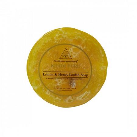 Khadi Lemon And Honey Loofah Soap