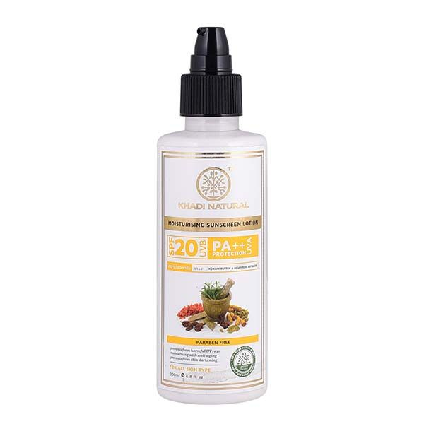 Khadi Natural Sunscreen Moisturising Lotion Spf 20