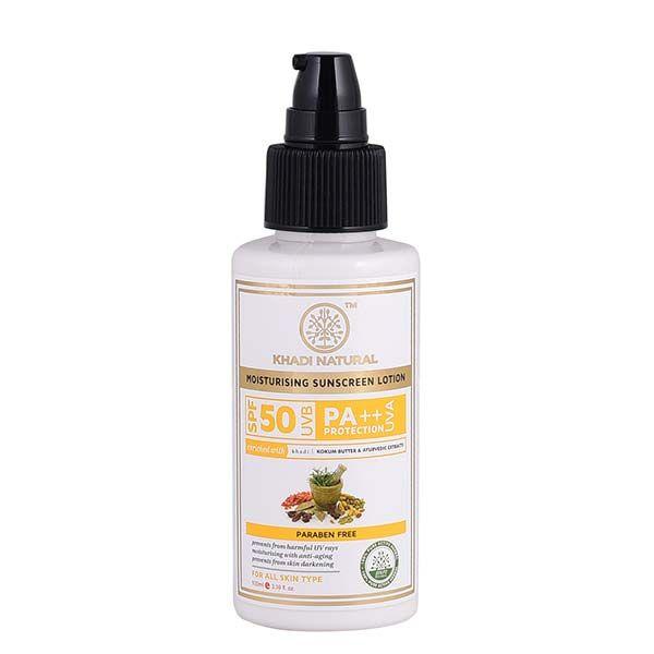 Khadi Natural Sunscreen Moisturising Lotion  Spf 50