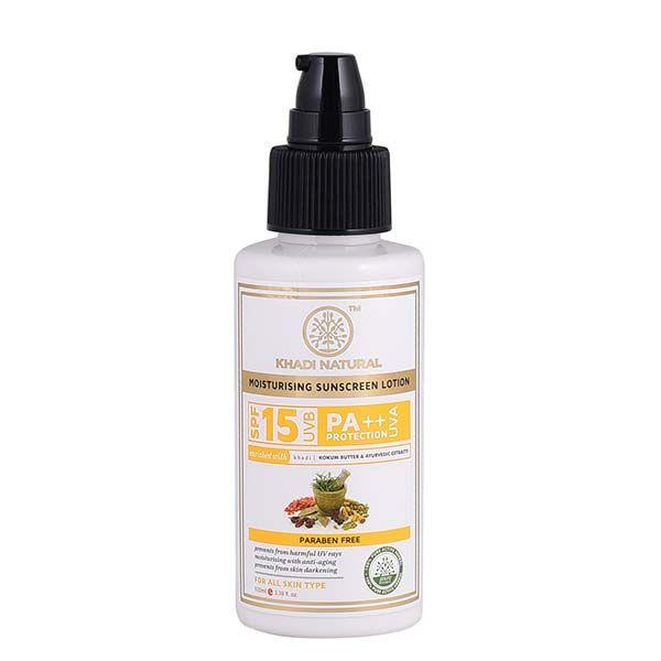 Khadi Natural Sunscreen Moisturising Lotion Spf 15