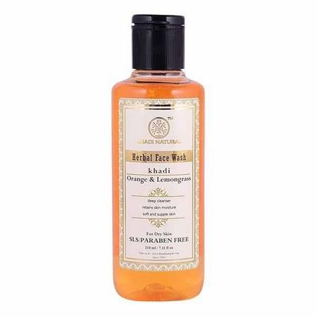 Khadi Orange and Lemongrass Face Wash SLS and Paraben Free