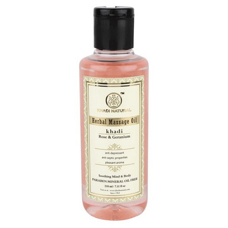 Khadi Rose And Geranium Massage oil Without Mineral Oil