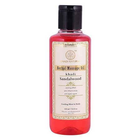 Khadi Sandalwood Massage Oil Without Mineral Oil