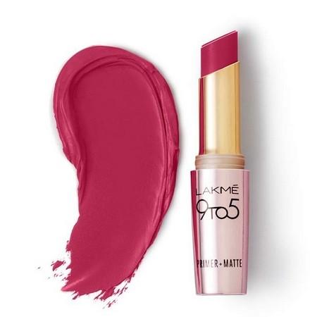 Lakme 9 to 5 Primer Matte Lip Color Maroon Mix MR18