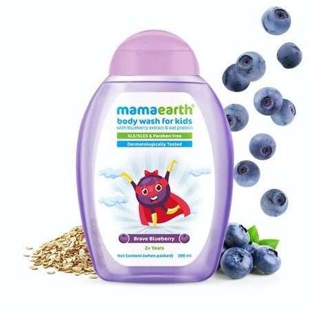 Mamaearth Brave Blueberry Body Wash For Kids
