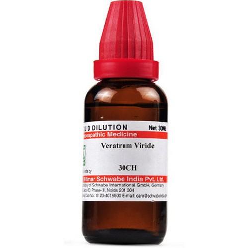 Schwabe Veratrum Viride 30 CH Dilutions