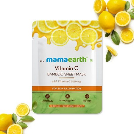 Mamaearth Vitamin C Bamboo Sheet Mask with Vitamin C and Honey