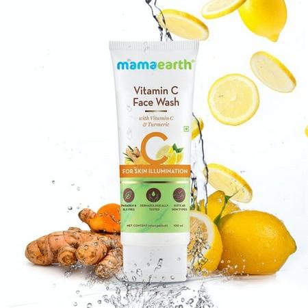 Mamaearth Vitamin C Face Wash with Vitamin C and Turmeric